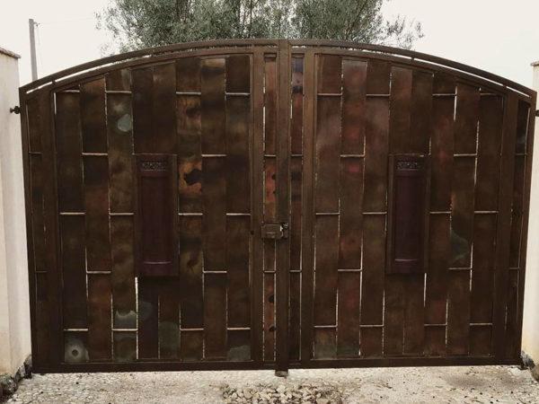 foto installazioni cancelli ossidato progetti roma portfolio serramenti82 roma