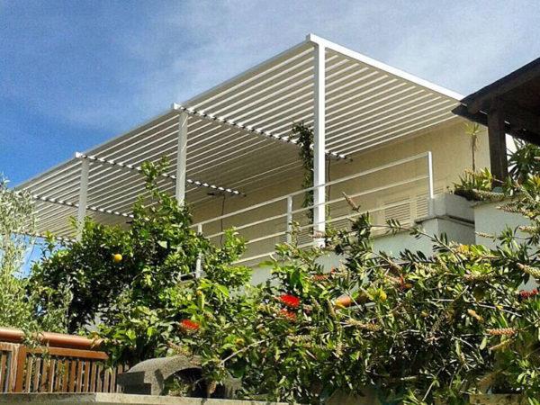 foto installazioni pensiline tettoie terrazza progetti roma portfolio serramenti82 roma