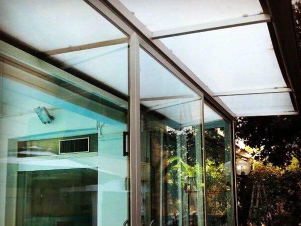 foto installazioni pensiline tettoie moderne roma portfolio serramenti82 roma