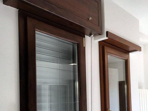 foto installazioni infissi pvc color legno progetti roma portfolio serramenti82 roma