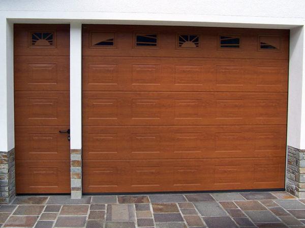 foto installazioni porte garage in legno progetti roma portfolio serramenti82 roma